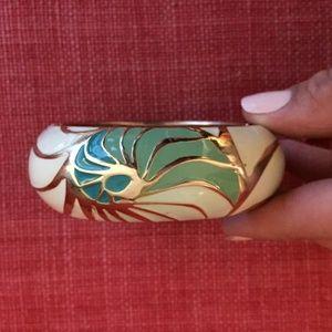 Wide Enamel Bracelet by Sequin